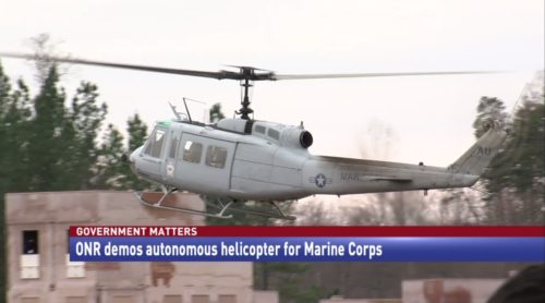 Government Matters ONR demos autonomous helicopter for Marine Corps