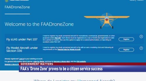 Government Matters FAA's 'Drone Zone' proves to be a citizen service success