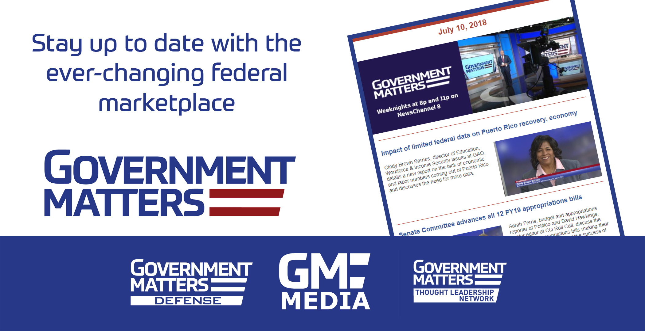 Sign up for the Government Matters Daily Program Guide
