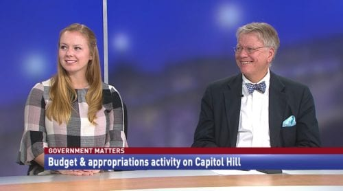 Government Matters Budget & appropriations activity on Capitol Hill
