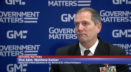 Defense Matters Vice Adm. Matthew Kohler