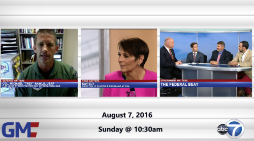 Government Matters August 7, 2016