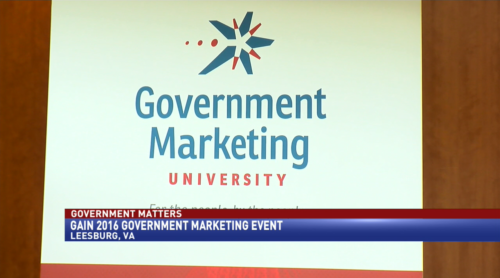 Government Matters GAIN 2016 Government Marketing Event